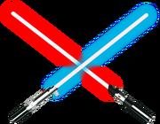 Spade laser incrociate