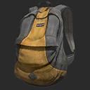 Icon Backpack Basic GreyYellowStripe