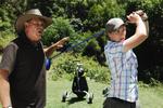 Lewis Playing Golf