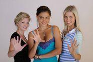 Phoebe,cariba and claire photoshoot season 2
