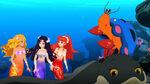 Rikki, Cleo, Emma, Bernie and Zita Under the Ocean