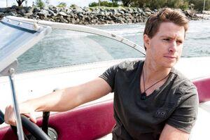 Joe Driving a Boat