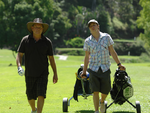 Lewis And Don Golfing