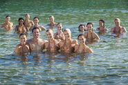 Merpeople in water