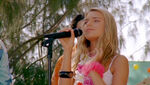 Bella Singing at the Beach Party