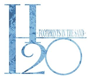 H2O Footprints in the Sand logo