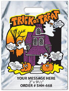 Trick or Treat Reflective Silver Metallic Halloween Bag