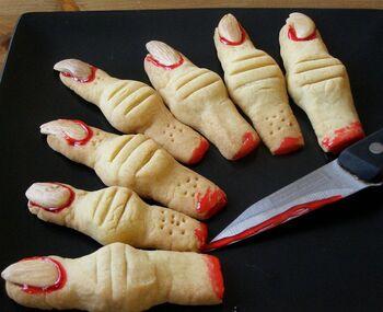 Severed Fingers Cookies