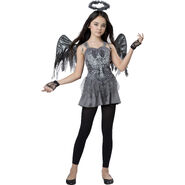 Dark Fallen Angel Girls Halloween Costume
