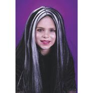 Morris Costumes Wig Child Blk Wht Streaks