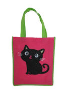 Goggly Eyes Cat Halloween Trick or Treat Tote Bag