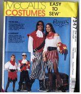 McCalls 7347 Halloween PIRATE Costume Men & Women Vintage 1994 Uncut EX - LARGE