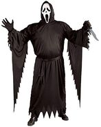 FunWorld Adult Scream Ghost face Costume, Black, One Size