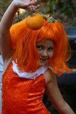Cassie as pumpkin