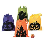 Fun Express Iconic Halloween Totes for Halloween - Apparel Accessories - Totes - Novelty Totes - Halloween - 12 Pieces