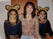 Liz Garcia and her daughters on Halloween, circa 2001 or 2002