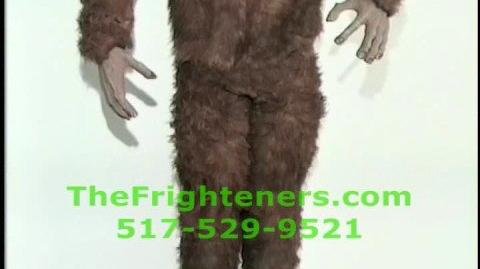Sasquatch or Bigfoot animated Halloween prop haunted house