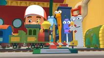 Handy Manny Train Set Railroad Crossing 02
