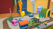 Handy Manny Train Set Railroad Crossing 06