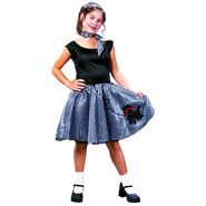 Girls Bobby Soxer 50s Costume
