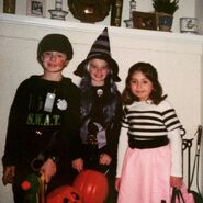 A SWAT Team member, a witch and a '50s sock hop girl, circa 2003