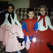 '50s sock hop girls and Spiderman, circa 2003