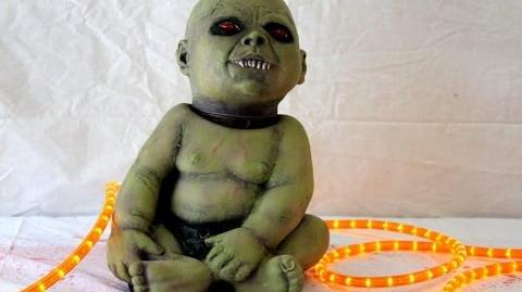 Spinning Head Possessed Zombie Baby Prop - Halloween FX Props