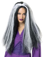 Witch Wig with White Streak
