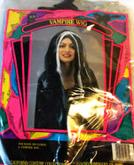 Black White Vampire Vampiress Costume Wig OSFM Adult NIP