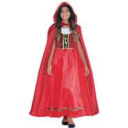 Girls Fairytale Red Riding Hood Costume