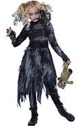 Girls Zombie Girl Costume