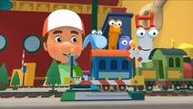 Handy Manny Train Set Railroad Crossing 03