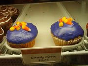 Candy corn cupcakes from Crumbs