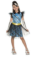 Licensed Frankie Stein Deluxe Monster High Child Girls Halloween Costume