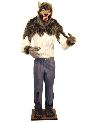 the giant werewolf prop is a scary prop decoration for halloween
