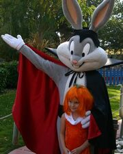Cassie with Dracula Bugs Bunny