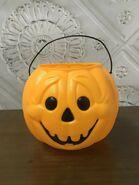 General Foam Plastic Vintage Jack-O-Lantern Pumpkin Halloween Candy Pail Bucket