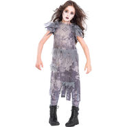 Girls Ghostly Zombie Costume