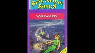 Disney's Sing Along Songs You Can Fly 1988 VHS