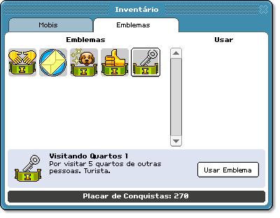 Emblemas no inventário