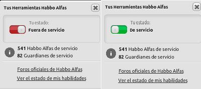 Herramienta Alfa - Fuera de Servicio y De Servicio