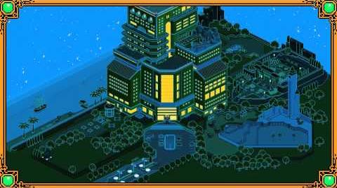 At night, somewhere in Habbo Hotel...