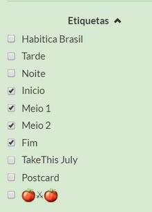 Etiquetas Lista
