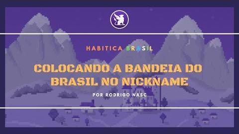 Colocando a Bandeira do Brasil no Nick-1