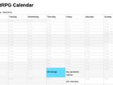 HabitRPG Calendar