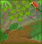 Background jungle canopy