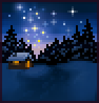 Background starry winter night