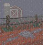 Background rainy barnyard