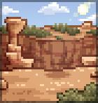 Background dusty canyon