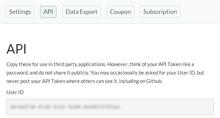 API - User ID